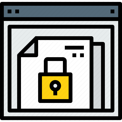 browser, document, lock, web, website icon