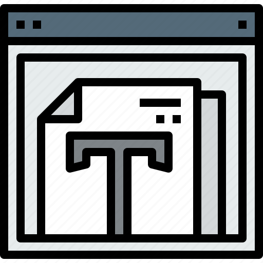 browser, document, text, web, website icon