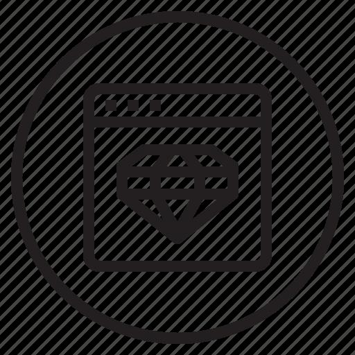 browser, diamond, web icon