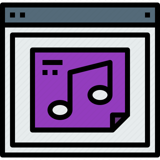 browser, music, web, website icon
