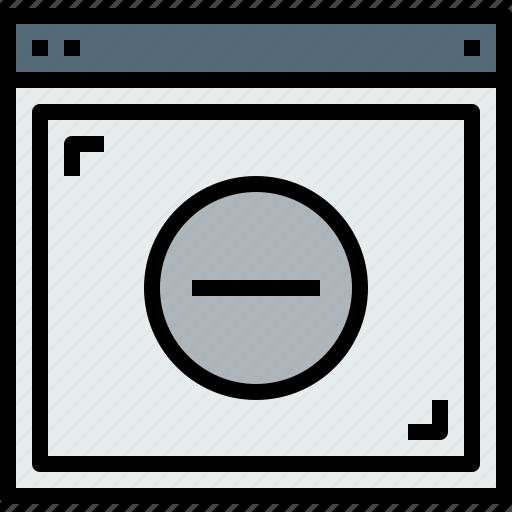 browser, remove, web, website icon