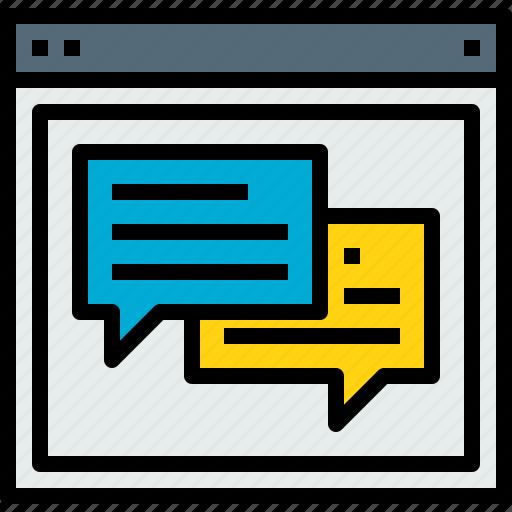 browser, talk, web, website icon