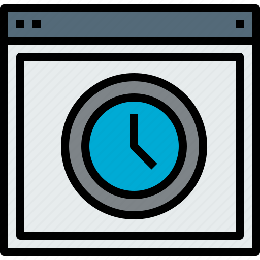browser, time, web, website icon