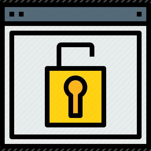 browser, unlock, web, website icon