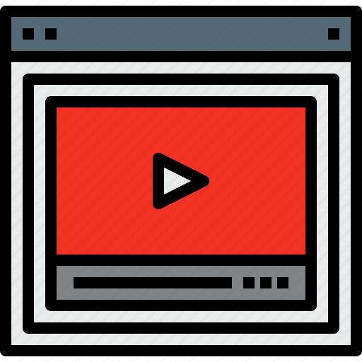 browser, video, web, website icon