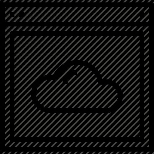 browser, cloud, design, site, website icon