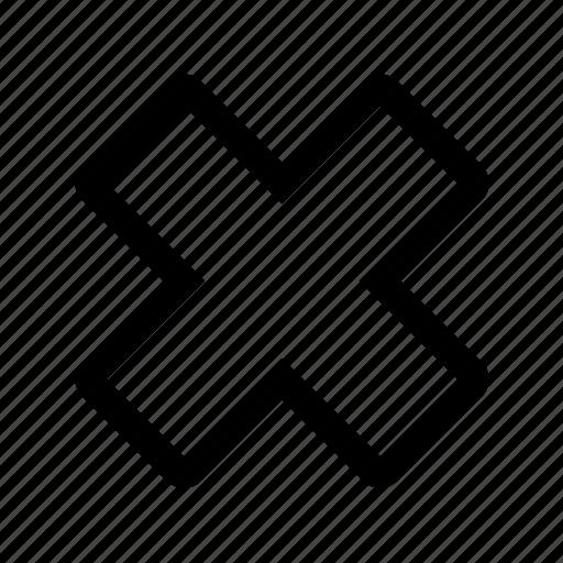 close, invalid, menu, x icon