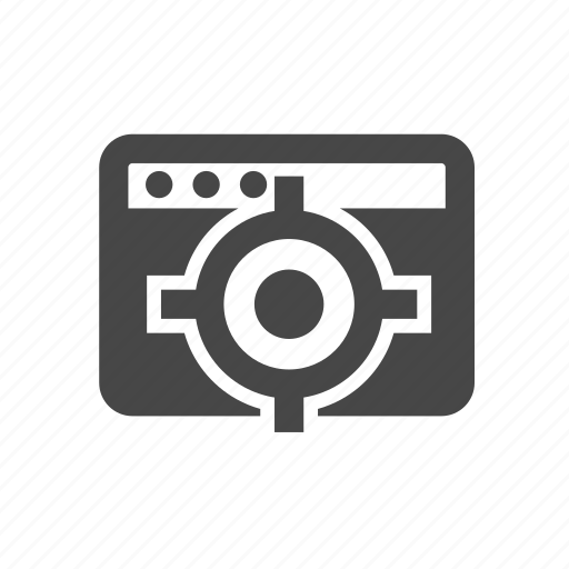 browser, target, web, webpage, website icon
