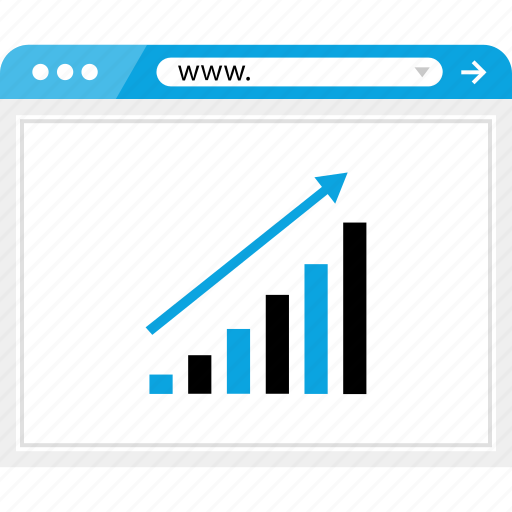 arrow, bars, business, data, good, graph, up icon