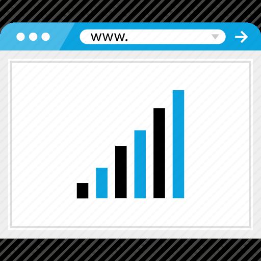 bars, data, good, graph, report, revenue, up icon