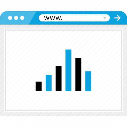 bars, browser, data, graph, online, report, web icon