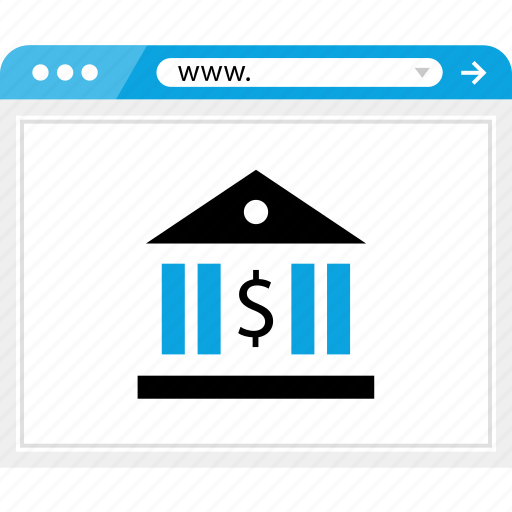 bank, banking, browser, dollar, money, sign, web icon