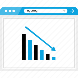 bars, browser, data, graph, low, report, revenue icon
