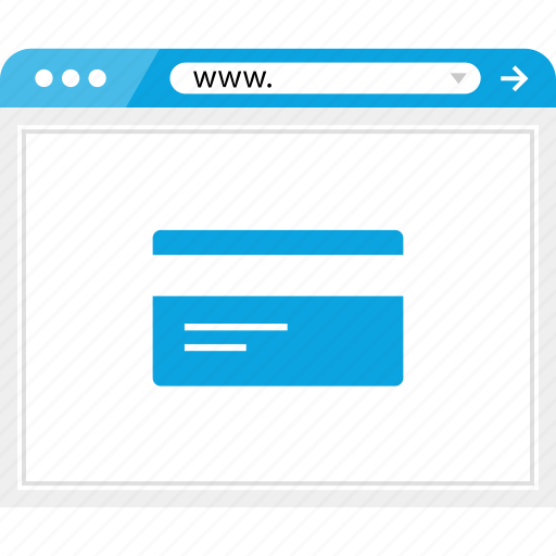 browser, card, credit, debit, online, payment, web icon