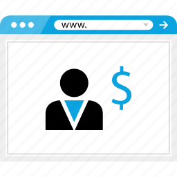 business, dollar, money, online, profile, sign, web icon