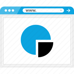 business, chart, graph, online, pie, report, web icon