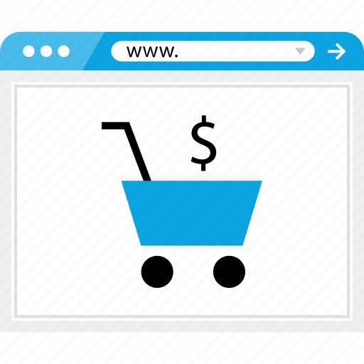 browser, cart, dollar, money, shop, shopping, sign icon