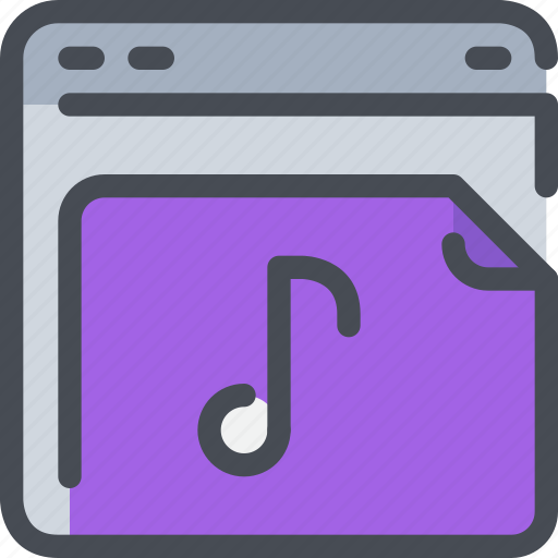 browser, interface, music, song, website icon