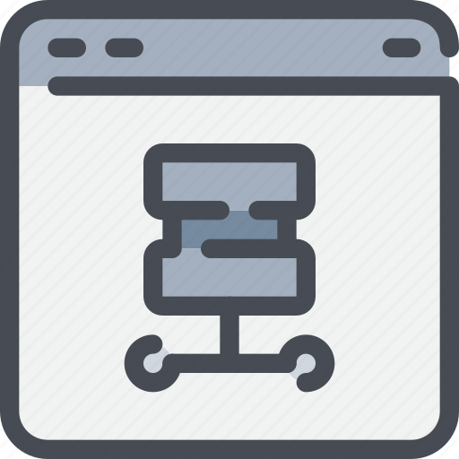 browser, database, interface, server, website icon