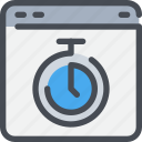 browser, interface, time, timer, website icon