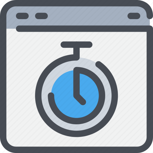 Browser, interface, time, timer, website icon - Download on Iconfinder
