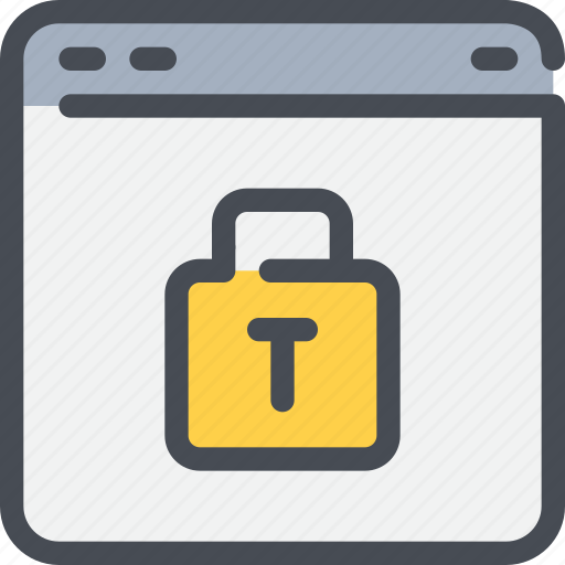 browser, interface, padlock, secure, security, website icon
