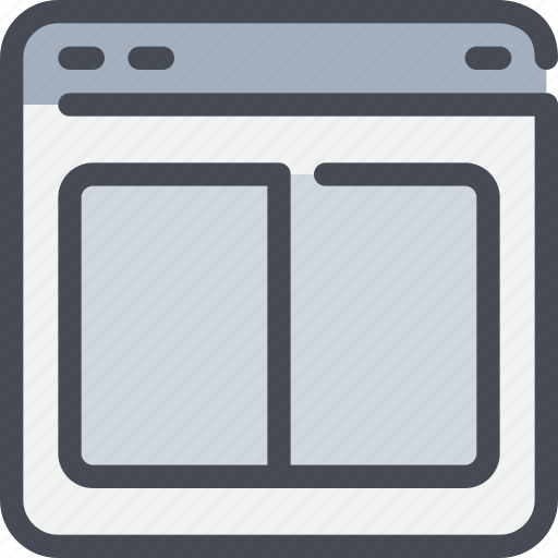 browser, interface, layout, website icon