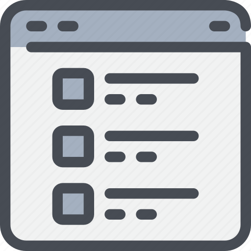 browser, interface, list, website icon