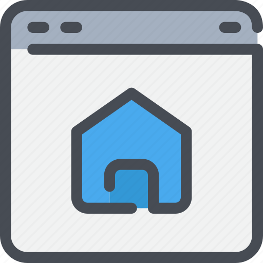 browser, home, interface, website icon