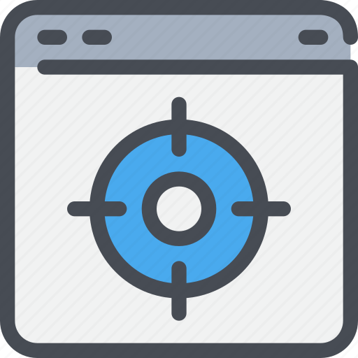 browser, interface, target, website icon
