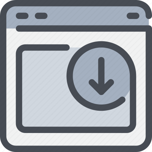 arrow, browser, interface, website icon
