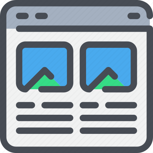 Browser, interface, layout, photo, website icon - Download on Iconfinder