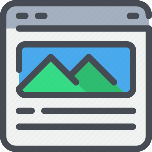 browser, interface, layout, photo, website icon