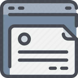 browser, content, document, file, interface, website icon