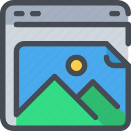 browser, document, file, interface, photo, website icon