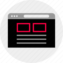 banners, mockup, online, page, quick, top, wireframe icon