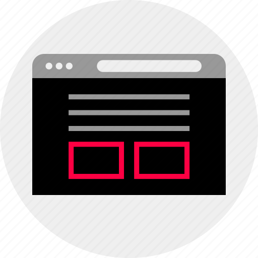 blog, browser, mockup, online, page, quick, wireframe icon