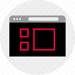 gallery, mockup, online, page, quick, view, wireframe icon
