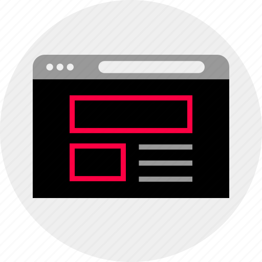 mockup, news, newsletter, online, quick, wireframe icon