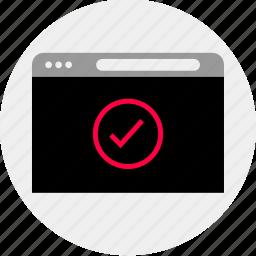 good, mockup, ok, online, quick, sent, wireframe icon