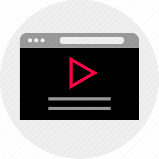 mockup, online, play, quick, wireframe, youtube icon