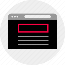 banner, mockup, quick, top, wireframe icon
