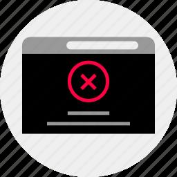 delete, denied, mockup, online, quick, stop, wireframe icon