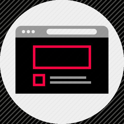 mockup, online, quick, website, wireframe icon