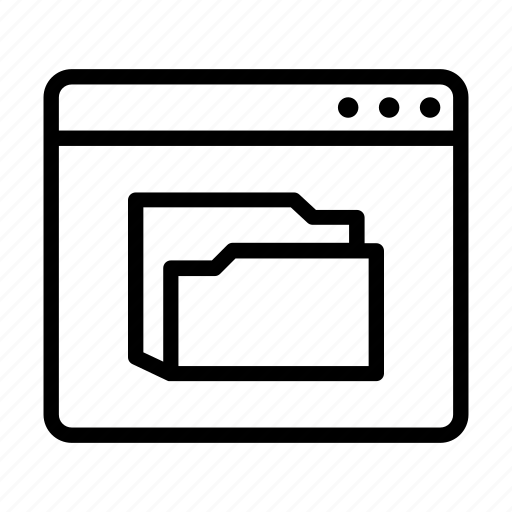 browser, folder, online, ui icon