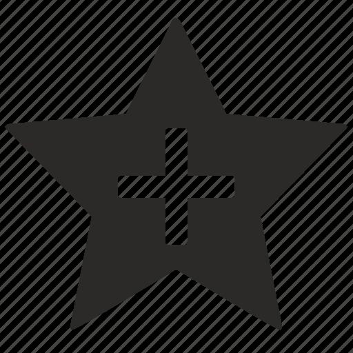 add, favorite, more, star icon
