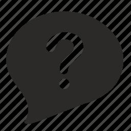 answer, comment, dialog, quest, question icon