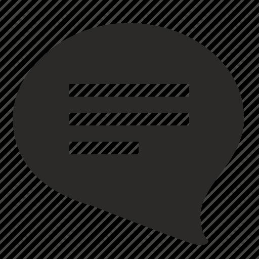 bubble, comment, dialog, message, web icon
