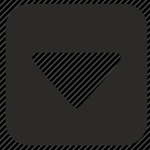 arrow, bottom, go, jump, navigation icon