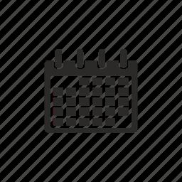browser, calendar, date icon